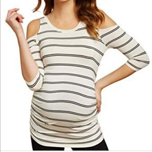 Jessica Simpson cold shoulder maternity top